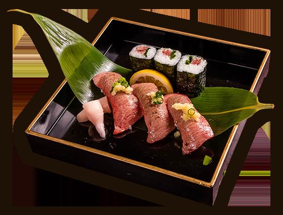 常陸牛炙り握り 忍寿司